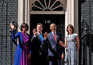 Barack Obama,Michelle,David Cameron
