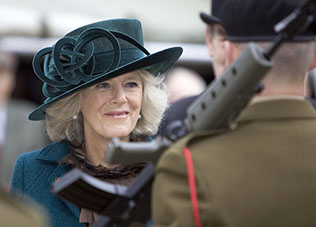 HRH The Duchess of Cornwall attends the 65th aniversary of the battle of Alamein at the