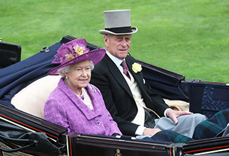 Her majesty the Queen Elizabeth 2 and the Duke of Edinburgh attends Royal Ascot.
