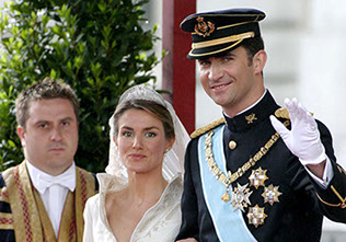 Prince Felipe of Borbon wedding with Letizia Ortiz