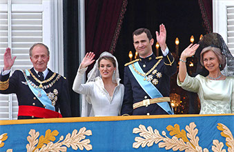 PRINCE; FELIPE; PRINCESS; LETIZIA; ORTIZ; ROYAL; WEDDING; KING; JUAN; CARLOS; QUEEN; SOFIA; CRISTINA; ELENA