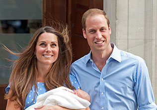 The Duke and Duchess of Cambridge, Kate and Prince William show the world their new baby