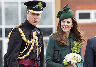 The Duke and Duchess of Cambridge visit the 1st Battalion Irish Guards
