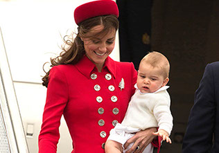 The Duke and Duchess of Cambridge and their son Prince George arrive in Wellington New Zealand
