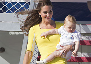 The Duke and Duchess of Cambridge and Prince George arrived in Sydney