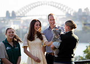 The Duke and Duchess of Cambridge visit Sydney's Taronga Zoo in Australia.