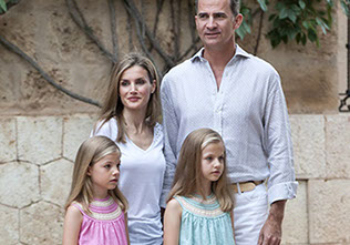 King Felipe VI, Queen Letizia, Princess Sofia and Princess Leonor
