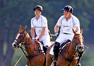 Prince William and Prince Harry at the Audi Polo tournament in Coworth Park, UK.