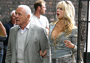 Sir Anthony Hopkins and Lucy Punch