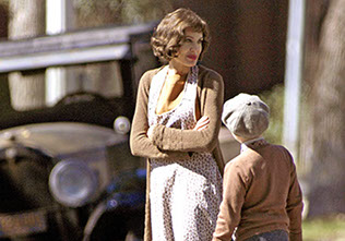 Angelina Jolie on set THE CHANGELING